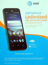 ZTE Z812 Maven 8GB AT&T Black Smart Phone Brand NEW FREE Priority Mail Shipping
