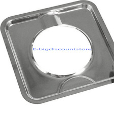"7 3/4"" SQUARE CHROME GAS OVEN STOVE DRIP PAN BOWL Kitchen Stove Square Gas Range"