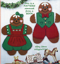 """GINGERBREAD WALL HANGS & UTENSIL HOLDER""~Plastic Canvas PATTERN ONLY~SEE PICS"