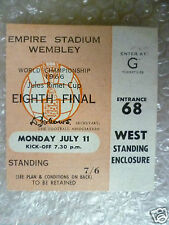1966 World Cup Ticket- ENGLAND v URUGUAY, 11 July (Original* Excellent*)
