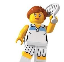 Lego 8803 Series 3 Minifig - Tennis Player Girl - Free Postage