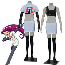 Cafiona Pocket Monsters Pokemon Jessie Cosplay Costume Anime Team Rocket Uniform
