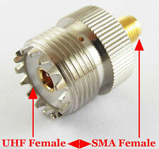 UHF SO-239 SO239 Female to SMA Female Plug Connector Coaxial Adapter