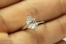 ENGAGEMENT RING WITH 2.00 PEAR SHAPE 14 KARAT White Gold