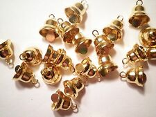 10 Goldplated Mini Bell Charms