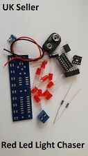 Red LED Light Chaser Adjustable Educational Electronic DIY Kits UK Stock JS05R