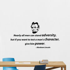 Abraham Lincoln Quote Wall Decal President Vinyl Sticker Office Art Decor 100quo