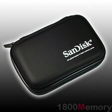 GENUINE SanDisk Large Memory Card Case holds 14x CF 21x SD SDHC +KeyChain Black