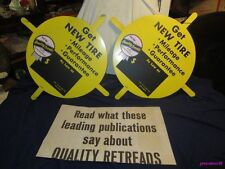 QUALITY TREADS RETREAD RECAP TIRES DISPLAY INSERT SIGN NOS