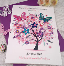 Personalised  Birthday Card Niece Friend Mother-in-Law Auntie 55th 65th 75th