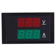 Black AC 80-300V Digital LED Display Voltmeter Ammeter Amp Volt Current Meter