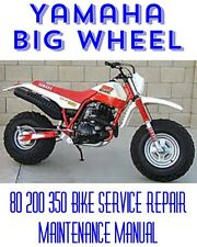 Yamaha Big Wheel 80 200 350 Bike Service Repair Maintenance Shop Manual