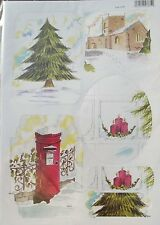 Craft UK Christmas Toppers 2157 - Christmas Church, Tree, Postbox & Candles