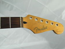 STRATOCASTER Maple / Rosewood Replacement Electric Guitar Neck with Fender Logo