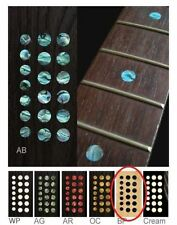 """New Custom Dots 5/16"""" Black Pearl Fret Markers Inlay Sticker Decal Guitar Japan"""