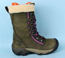 KEEN Waterproof Keen Dry Womens Fur Real Leather Mid Boots Taupe Size 6 UK 39 EU
