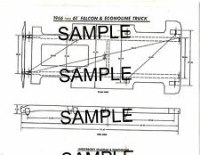 1961 1962 1963 - 1965 CHEVROLET CORVAIR TRUCKS FRAME DIAGRAM DIMENSIONS 6166BKM2