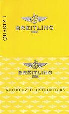 BREITLING QUARTZ 1 ANLEITUNG INSTRUCTIONS I411