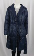 VERONICA DAMIANI LONG PADDED COAT V9343-31 BLUE ITALIAN 38