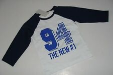 H&M 94 #1 blue white Boys Top Shirt T-shirt Size 4 5 6 Years NEW NWT
