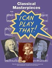 Obras maestras clásicas para fácil piano Partituras Libro Classics Mozart Bach