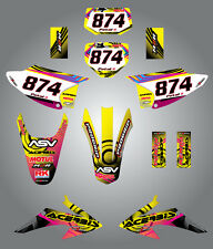 Full Custom Graphic Kit Honda CRF 150 F - 2008 / 2014 neon style sticker kit