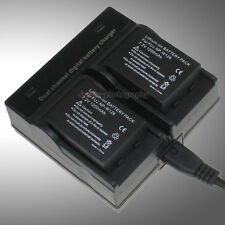 Dual Charger +2x NP-W126 Battery For Fuji FinePix XPro1 X-M1 X-E1 X-A1 HS30 HS50