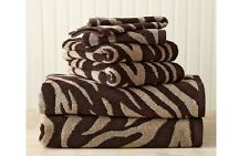 Better Homes and Gardens 6-Piece Zebra Bath Towel Collection Chocolate Brown