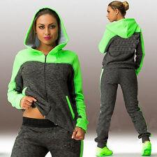 Womens Tracksuits Hoodies Sweatshirt + Jogging Pants 2Pcs Set Sports Suit Outfit