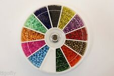 24 Various Colors Glass Beads Small Eyes Fly Tying Material Free Beads Container