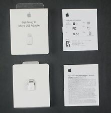 Genuine Apple 8 Pins Lightning to Micro USB Adapter for iPhone/iPadMini/Air/iPod
