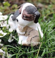 Miniature Garden Furry Friends Dog with Cat   Dollhouse Fairy Faerie 1425