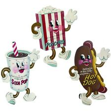 Retro Singing Dancing Movie Snack Food Items Wall Signs