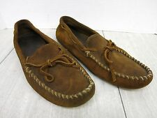 Minnetonka Suede Leather Driving Moccasins GUC  Men's 14?