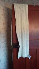 GAP unisex scarf, cream,one size,woolen,new with tag