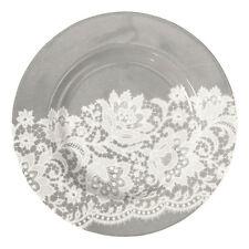 GreenGate Floral Petite Plate in Liva Warm Grey