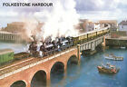 """Hornby Dublo in Railway Art """"Folkestone Harbour"""" No. 14 Signed & Numbered."""