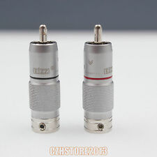 EIZZ HIgh End Male RCA Cable Terminal Plug Connector For HIFI Audio AMP TV DIY