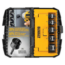 DEWALT 5pc Impact Ready Hole Saw Set D1800IR5 New