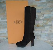 Tods Tod´s Taille 38,5 Bottes Plateforme Chaussures daim marron foncé neuf