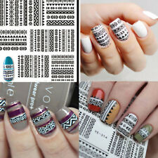 Women Tribal Geo Pattern Nail Art Water Decals Stickers Accessories Xmas Gifts