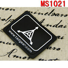 Outdoor Sports Tactical Black TAD Gear Design Triple Aught Velcro Patches Paste