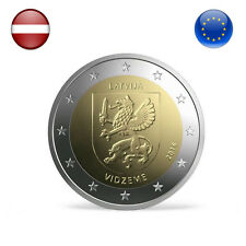 LATVIA Commemorative Coin 2 Euro Vidzeme 2016 Uncirculated From Roll UNC Gift