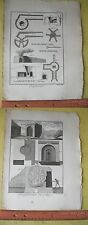 Vintage Print,LIME BURNER,Encyc of Trades,Diderot,1784