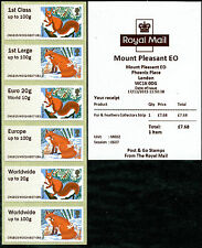 MT PLEASANT ENQUIRY OFFICE EO FUR & FEATHERS 1st CLASS COLL STRIP/6 POST & GO