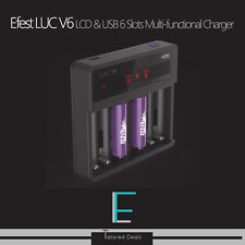 Efest LUC V6 LCD & USB 6 Slots Multi-functional Charger