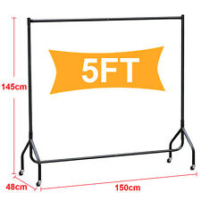 US Heavy Duty Hanging Rail 5ft Strong Clothes Garment Dress Display Stand Rack