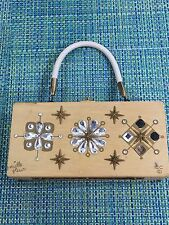 Vintage Purse By Enid Collins Of Texas - Mille Fleur Rhinestone Front