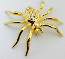 Gold Plated & Stone Set Lucky Spider Fashion Brooch.
