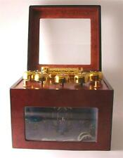 Wood cased Grand oncert animated electric powered music box with 50 songs